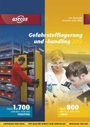 Katalog Gefahrstofflagerung und Handling