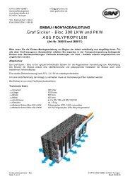 Graf Sicker – Bloc 300 LKW und PKW AUS POLYPROPYLEN