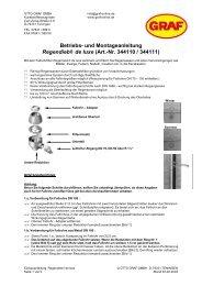 Betriebs- und Montageanleitung Regendieb® de luxe (Art.-Nr ...