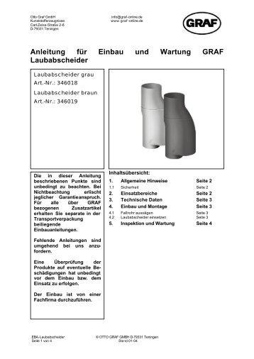 Anleitung für Einbau und Wartung GRAF Laubabscheider