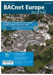 PDF: Bacnet Europe Journal 16 - 04/12 - Bacnet Interest Group ...