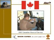 hours off-duty per 'day'. - Bison Transport