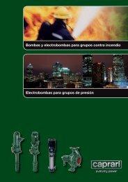 Bombas y electrobombas para grupos contra incendio ... - Caprari