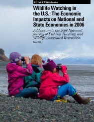 National and State Economic Impacts of Wildlife Watching