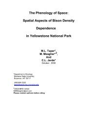 The Phenology of Space: Spatial Aspects of Bison Density ...