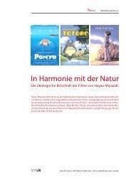 Die ökologische Botschaft der Filme von Hayao ... - mediamanual.at