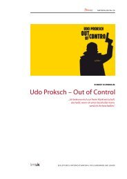 Udo Proksch – Out of Control - mediamanual.at