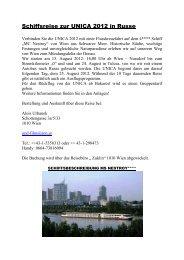 Schiffsreise zur UNICA 2012 in Russe