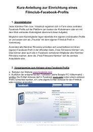 Kurz-Anleitung zur Einrichtung eines Filmclub-Facebook-Profils