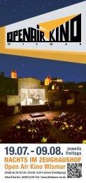 NACHTS IM ZEUGHAUSHOF Open Air Kino Wismar - Filmbüro MV