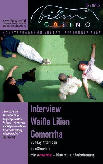 Interview Weiße Lilien Gomorrha - Filmcasino