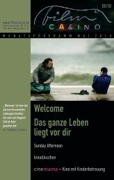 Welcome Das ganze Leben liegt vor dir GARTEN - Filmcasino