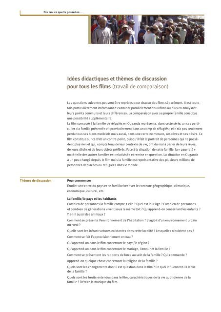 Idées didactiques (pdf) - Filme für eine Welt