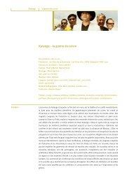 Katanga – la guerre du cuivre - Filme für eine Welt