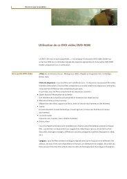 Utilisation de ce DVD (pdf) - Filme für eine Welt