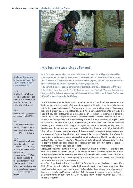 Introduction : les droits de l'enfant - Filme für eine Welt