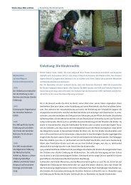 Einleitung: Die Kinderrechte - Filme für eine Welt
