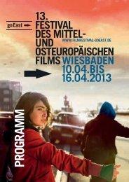 PDF - Festival des mittel- und osteuropäischen Films, goEast