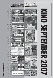 wohin09_07.indd - FilmGalerie Kino im Leeren Beutel