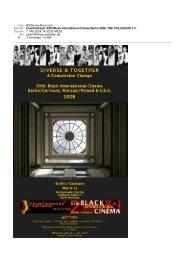 Fountainhead, XXIII Black International Cinema Berlin 2008, THE ...