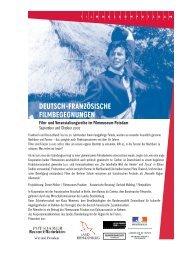 deutsch-französische filmbegegnungen - Filmmuseum Potsdam