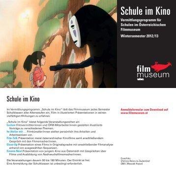 Folder Schule-im-Kino WiSe 2012/13 - Österreichisches Filmmuseum