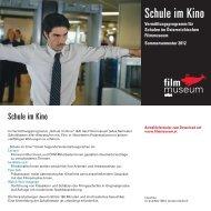 Folder Schule-im-Kino SoSe 2012 - Österreichisches Filmmuseum
