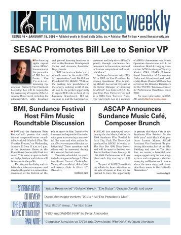 SESAC Promotes Bill Lee to Senior VP - Film Music Magazine