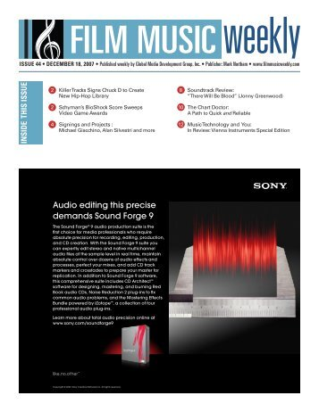 Audio editing this precise demands Sound Forge 9 - Film Music ...