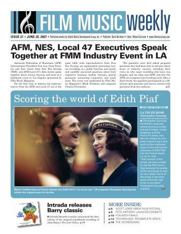June 28, 2007 - Film Music Magazine