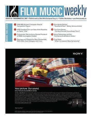 November 20, 2007 - Film Music Magazine