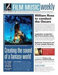 February 19, 2007 - Film Music Magazine