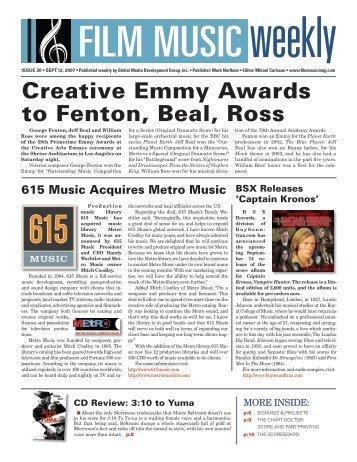 September 12, 2007 - Film Music Magazine