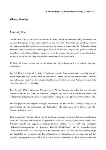 Musical(-Film) - Kieler Gesellschaft für Filmmusikforschung