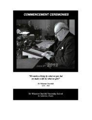 49TH ANNUAL GRADUATION EXERCISES - Sir Winston Churchill ...