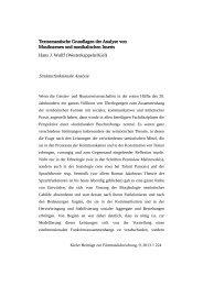 Textsemantische Grundlagen der Analyse von Musikszenen und ...