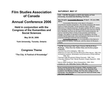 Final Version of schedule available now (PDF) - Film Studies ...