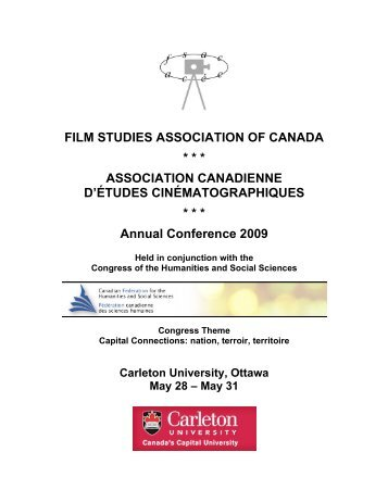 The Final schedule (PDF Version) - Film Studies Association of ...