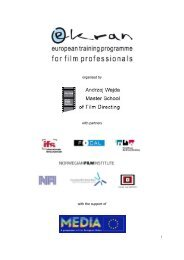 organised by with partners with the support of - Filmstiftung ...