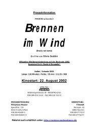 Kinostart: 22. August 2002