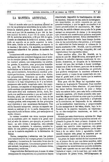 LA. MANTECA ARTIFICIAL.