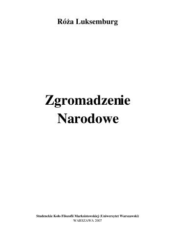 Zgromadzenie Narodowe - Uniwersytet Warszawski