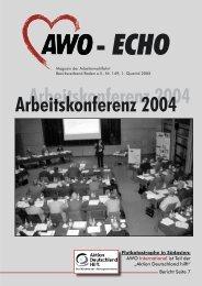 1. Quartal 2005 | Awo-Echo Ausgabe 149 - AWO Baden