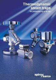Thermodynamic Steam Traps for Pressures up to 42 bar - Filter