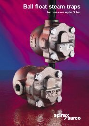 Ball Float Steam Traps for Pressures up to 32 bar - Filter