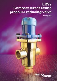 LRV2 compact direct acting pressure reducing valve for liquids - Filter