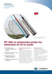 FP 360 sc immersion probe for detection of oil in water - Filter