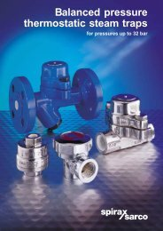 Balanced pressure thermostatic steam traps - Filter