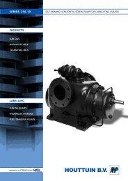 self-priming horizontal screw pump for lubricating liquids - Filter