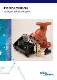 Pipeline Strainers for Steam, Liquids and Gases - Spirax Sarco
